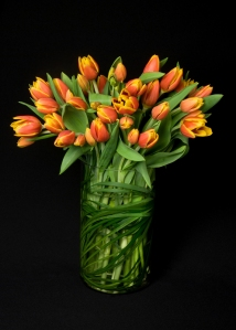 Sending two tone tulips to your man an all time favorite