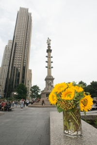 Sunflowers in NYC-Columbus Circle