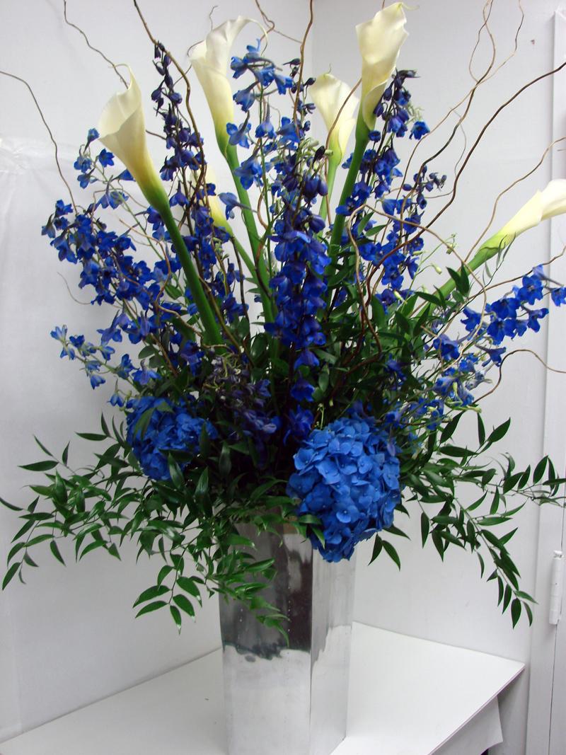 Color new york flower shop talk for Flower arrangements with delphinium
