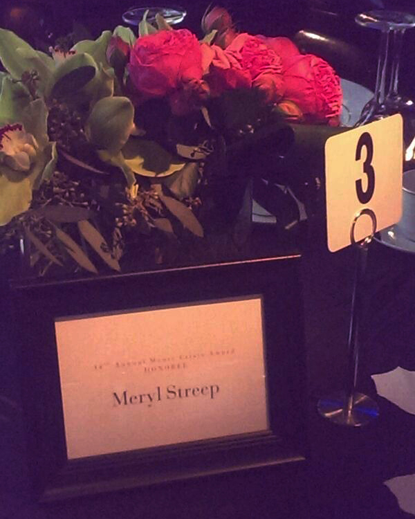 Starbright flowers for 14th Monte Cristo Award for Meryl  Streep