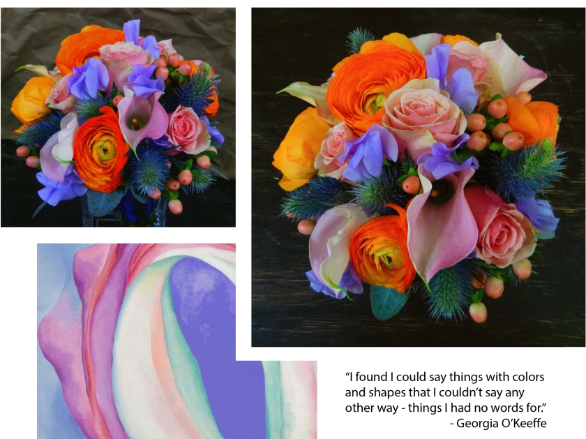 Georia O'Keeffe inspired bouquet
