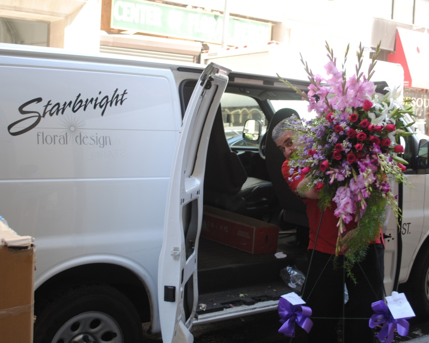 Adam loading the Starbright van
