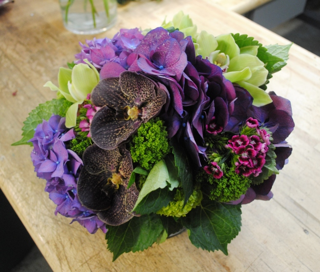 Hydrangea and Orchids