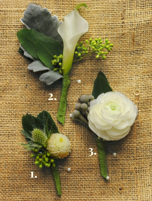 Boutonnières from Starbright Floral Design