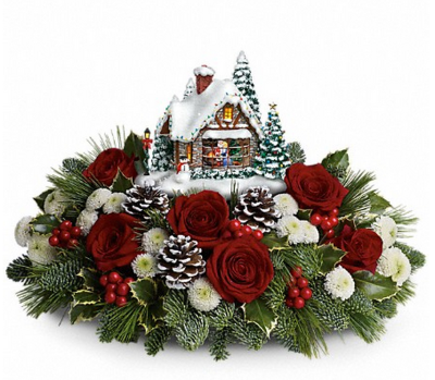 Thomas Kinkade's Holiday Arrangement