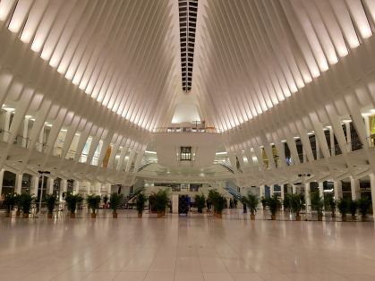 The awe-inspiring vaulted ceiling at the Oculus is the focal point that we wanted to enhance.