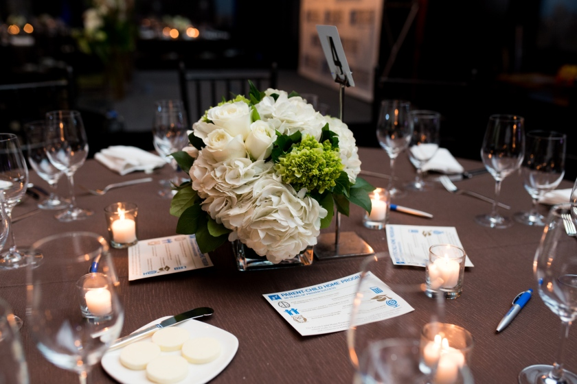 The lovely centerpieces echoed the floral compositions at the entrance.