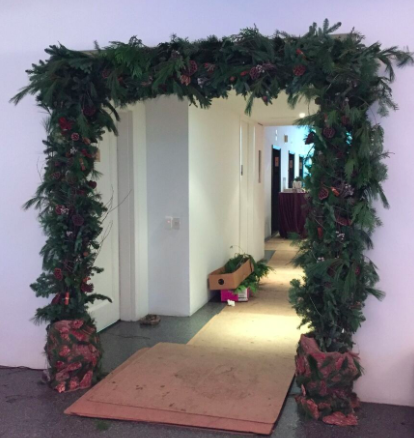 The greenery and pinecones that Starbright crafted over doorways made an instant impact.