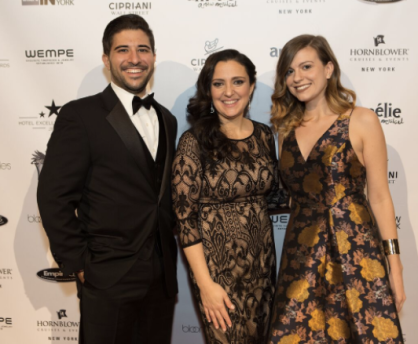 Stephen Faitos of Starbright, left, joined with Adeline Tafuri Jurecja, publisher of Where and IN New York Magazine, center, with Julie McGonigle, Special Events Architect at Starbright.