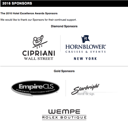 Starbright had the honor of being invited to be a sponsor of the Hotel Excellence Awards.